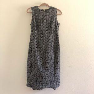 Calvin Klein black and grey print dress